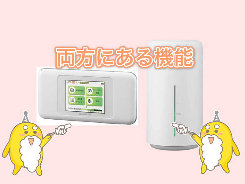 WiMAX W06とL02を比較