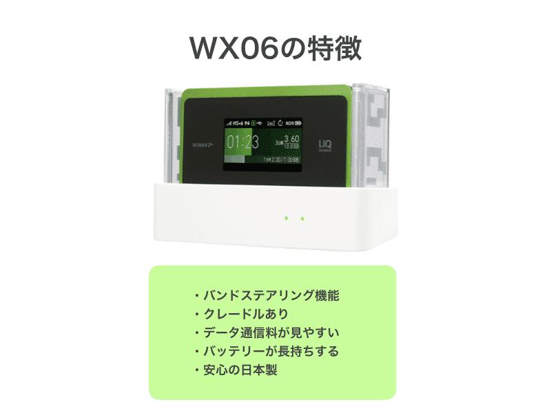 WX06の特徴